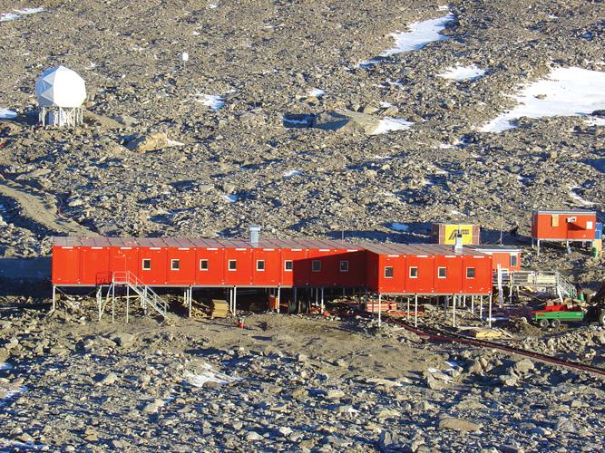 Norveška istraživačka postaja <em>Troll</em> na Antarktici, modularni objekt proizveden 2004.