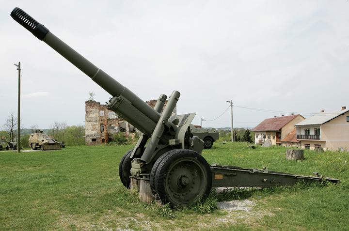 Top haubica <em>M37,</em> 152mm, proizveden u SAD-u, Vojni kompleks Turanj, Gradski muzej Karlovac