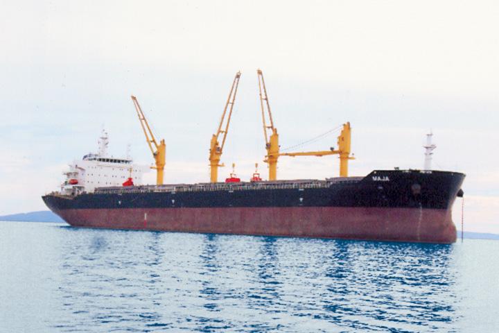 Motorni brod <em>Maja,</em> brod za prijevoz rasutih tereta, izgrađen u Kini 2011; zadnji brod izgrađen za Lošinjsku plovidbu