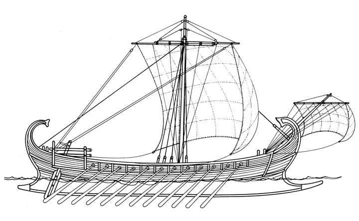 Liburnska liburna, II–I.st.pr.Kr.