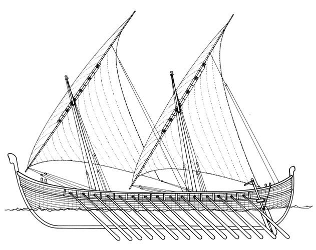 Starohrvatski ratni i trgovački brod, IX–XI.st.
