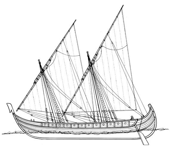 Neretvansko-omiški gusarski i trgovački brod, XI–XII.st.