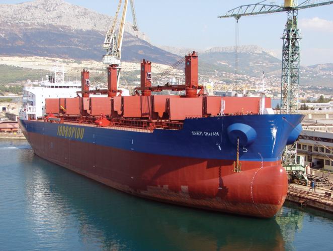 Brod za rasuti teret <em>Sveti Dujam,</em> izgrađen u brodogradilištu Brodosplit, 2010.