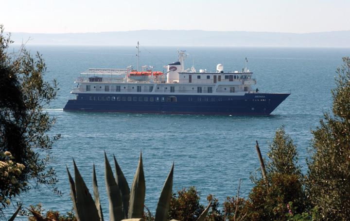 Brod za kružna putovanja <em>Arethusa,</em> izgrađen u splitskom Brodogradilištu specijalnih objekata, 2008.