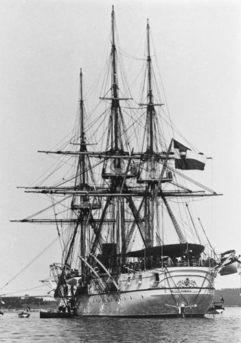 Korveta <em>Fasana (Fažana),</em> izgrađena 1870., NH87277, Naval History and Heritage Command