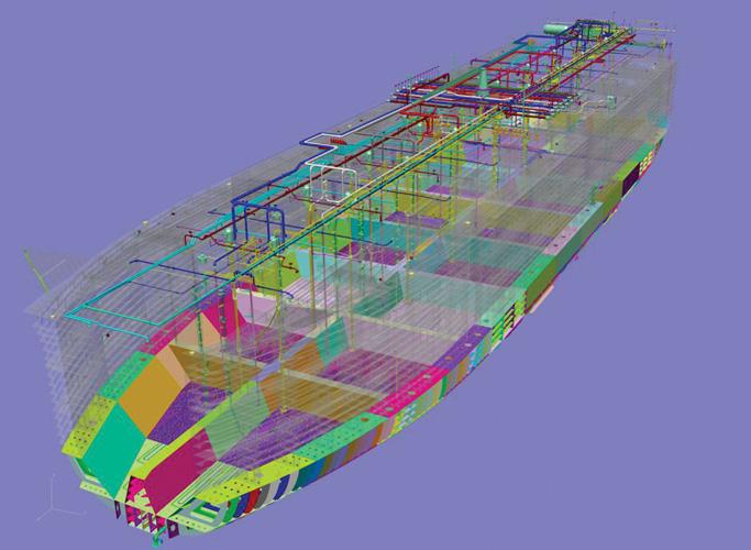 Trodimenzijski računalni model brodskoga sklopovlja
