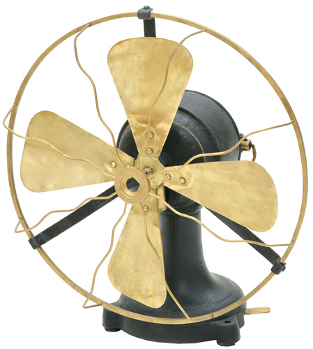 Ventilator proizveden u bečkoj tvornici Technisches & Electrotechnisches Bureau Louis Patz & Comp., oko 1915., Muzej Slavonije, Osijek