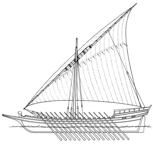 Dubrovačka galijica, XVIII.st. (prema J. Luetiću)