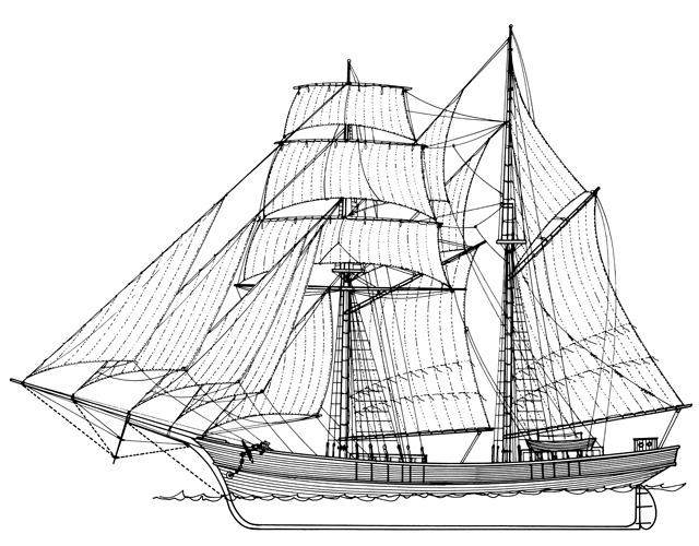 Istočnojadranska goleta, XIX.st.