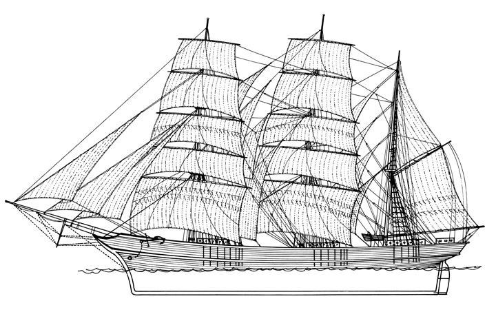 Istočnojadranski bark, XIX.st.