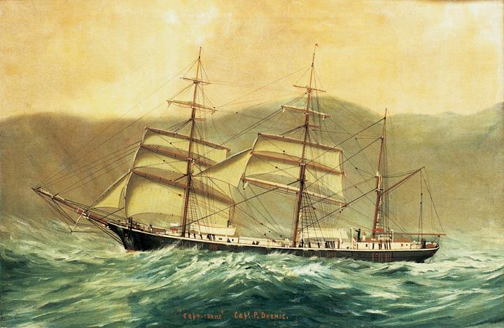 Jedrenjak <em>Capricorno,</em> izgrađen u brodogradilištu J. B. Bačića u Rijeci, 1883., Pomorski i povijesni muzej Hrvatskog primorja Rijeka