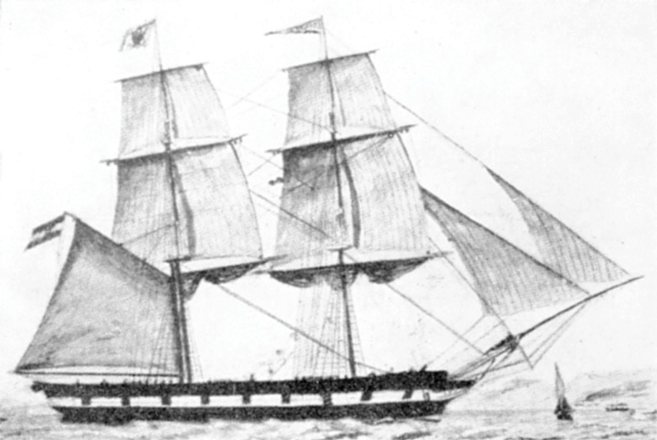 Brik <em>Splendido,</em> izgrađen u riječkom brodogradilištu Andrije Zanona, 1850.