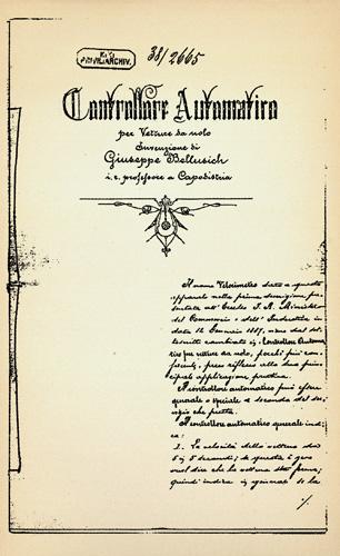 Kopija patentne prijave za <em>uređaj za nadzor vozila u najmu,</em> 1888., Muzej policije, Zagreb