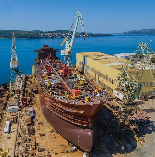 Porinuće broda za prijevoz kemijskih proizvoda <em>Novogradnja326,</em> brodogradilište Brodotrogir,  2016.