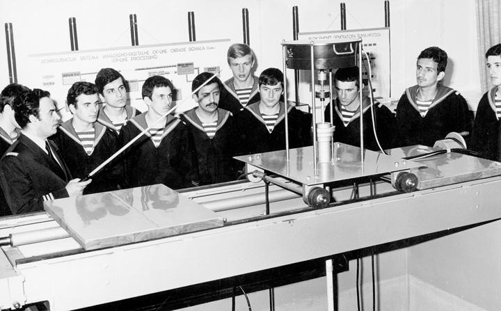 Kabinet hidroakustike, Mornarički školski centar, 1970-e, Split