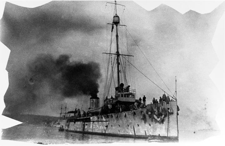 Minopolagač <em>Chamäleon,</em> izgrađen u Pomorskom arsenalu u Puli 1912–14., NH87534, Naval History and Heritage Command