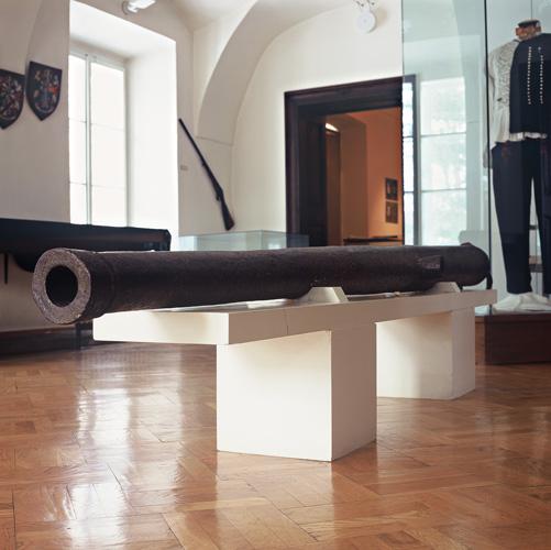 Uložak drvenog turopoljskog topa iz dvorca Lukavec, Muzej Turopolja, Velika Gorica