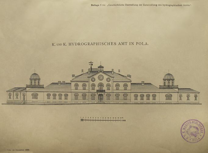 Nacrt zgrade Hidrografskoga zavoda u Puli, 1896., Sveučilišna knjižnica u Puli