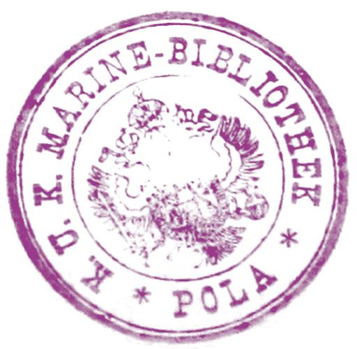 Pečat K.u.k. Marine-Bibliothek, Sveučilišna knjižnica u Puli, Zbirka Mornaričke knjižnice