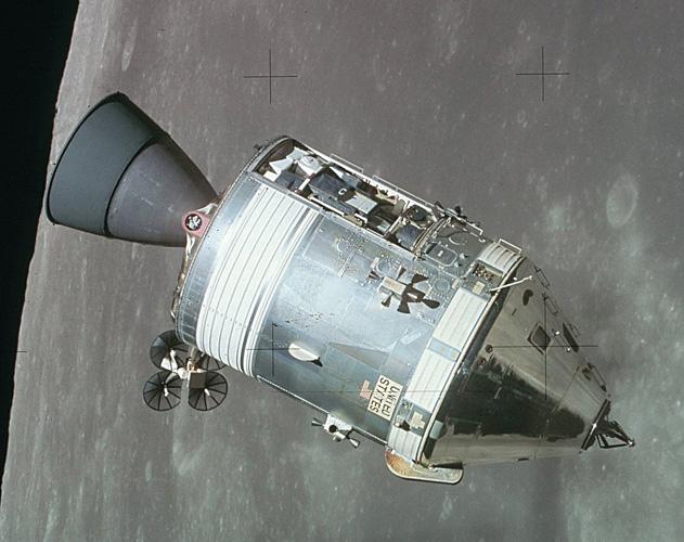 Servisni modul <em>Apollo 15</em> u Mjesečevoj orbiti, NASA