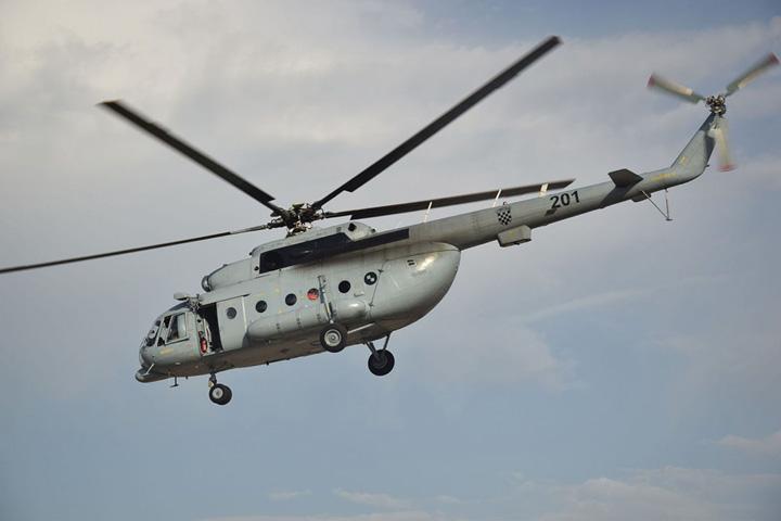 Helikopter <em>MI-8</em> Hrvatskoga ratnog zrakoplovstva sovjetske proizvodnje, MORH