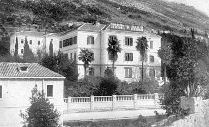 Pomorska vojna akademija u Dubrovniku, zgrada oko 1925.