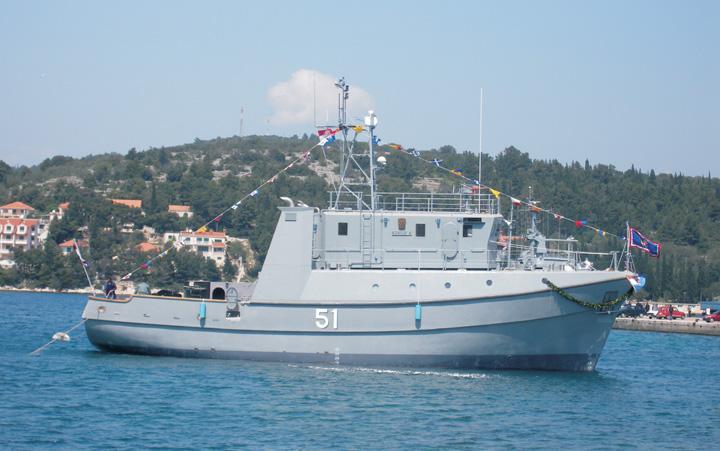 Minolovac <em>LM-51 Korčula,</em> izgrađen u brodogradilištu Montmontaža – Greben 2006.