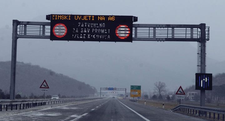 Prometna signalizacija na autocesti A6