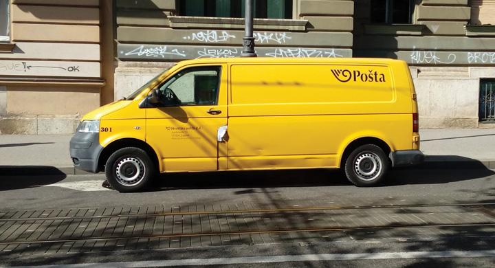 Dostavno vozilo Hrvatske pošte
