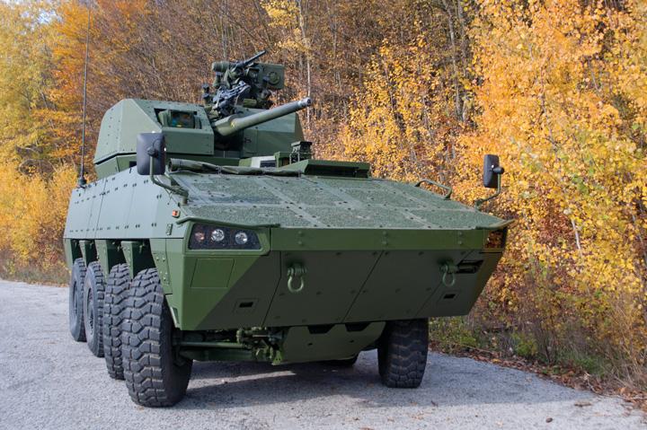 Oklopno modularno vozilo <em>Patria AMV,</em> proizvedeno u tvornici Đuro Đaković 2010.