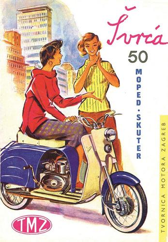 Promidžbeni materijal za moped <em>Švrća,</em> 1964