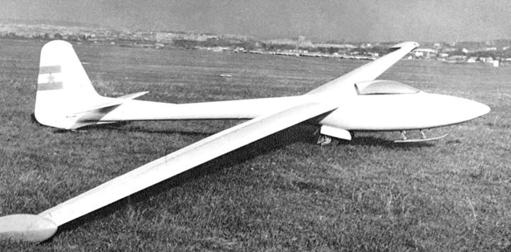 Zračna jedrilica <em>Meteor</em> konstruktora S. Obada, 1955.