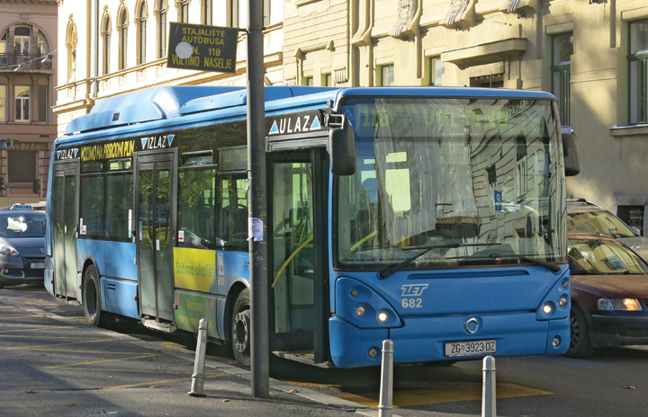 Autobus <em>Irisbus Citelis 12</em> francuske proizvodnje, Zagrebački električni tramvaj, 2009.