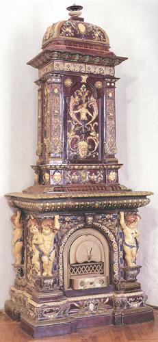 Peć izrađena u zagrebačkoj tvornici J. Kalline, 1890., Muzej za umjetnost i obrt, Zagreb