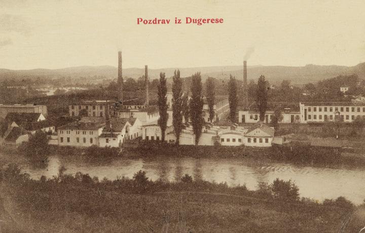 Razglednica s pogledom na tvornicu, početak XX.st., Gradski muzej Karlovac