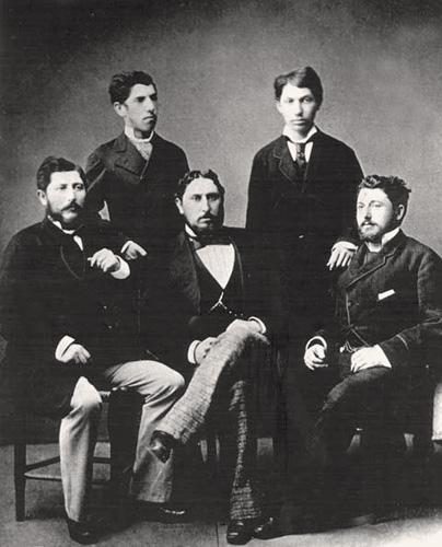 Braća Gutmann, sjede slijeva: Edmund, Vilim i Isidor, stoje slijeva: Ladislav i Alfred