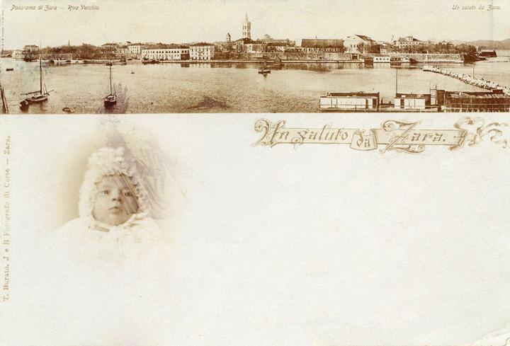 Razglednica s panoramom Zadra, Riva Vecchia, 1898., Znanstvena knjižnica Zadar