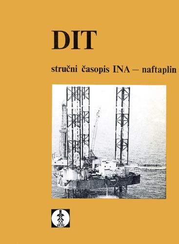 Naslovnica časopisa <em>DIT stručni časopis INA–naftaplin</em>, 1980.