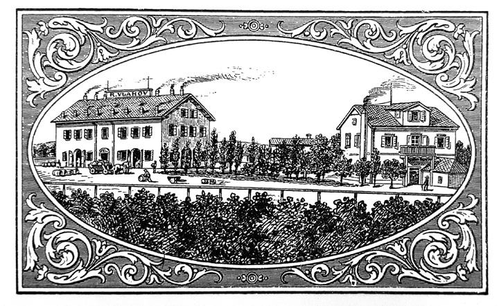 Tvornica maraskina i likera R. Vlahova u Zadru, ilustracija iz časopisa <em>Obrtnik,</em> 1893.