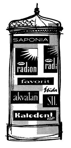 Reklamni letak proizvoda tvornice Saponia 1960-ih, Muzej Slavonije Osijek