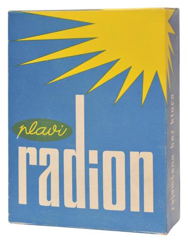 Deterdžent <em>Plavi Radion</em> poduzeća Saponia od 1956., Muzej Slavonije Osijek