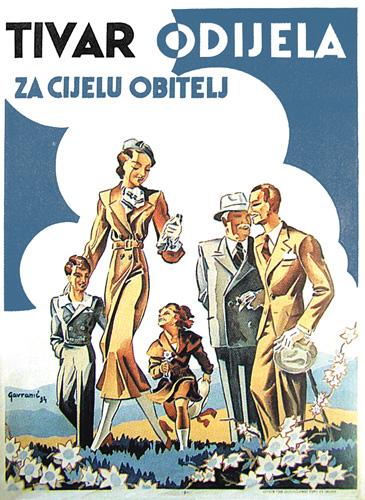 Reklamni plakat poduzeća Tivar, prva polovica XX.st.