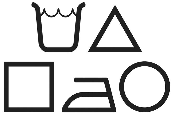 Osnovni simboli za njegu tekstila