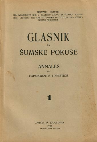 Naslovnica prvoga broja znastvenoga časopisa, 1926.