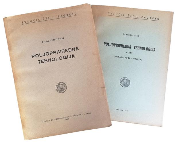 Udžbenici <em>Poljoprivredna tehnologija I–II,</em> 1960–62.