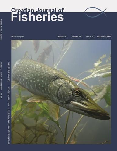 CROATIAN JOURNAL OF FISHERIES (RIBARSTVO), Naslovnica znanstveno-stručnoga časopisa, 2016.