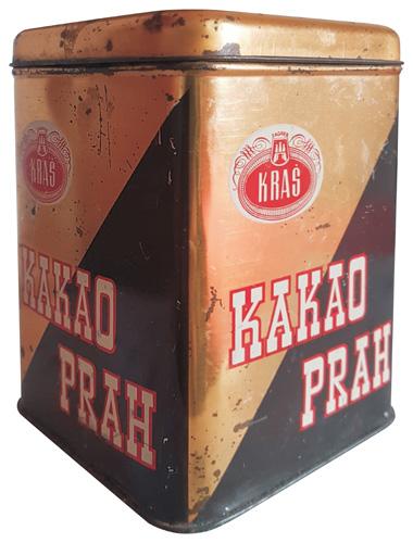 Kakao prah u limenoj ambalaži proizveden u poduzeću Kraš, 1970-ih