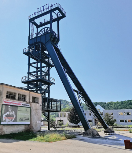 Izvozni toranj na ugljenokopu Raša u Labinu