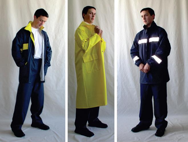 Vodonepropusna i upozoravajuća zaštitna odjeća od višeslojnih materijala s reflektirajućim vrpcama proizvedena u poduzeću Čateks