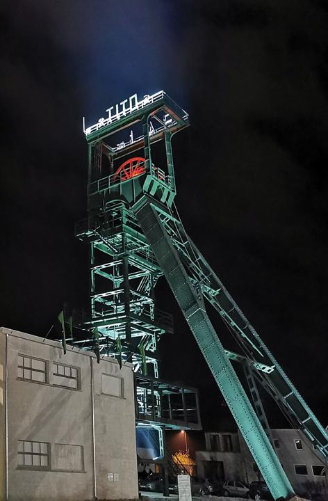 Izvozni toranj Istarskog ugljenokopa Raša u Labinu, 2021.